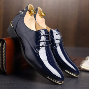 blue formal party wear shoes for men