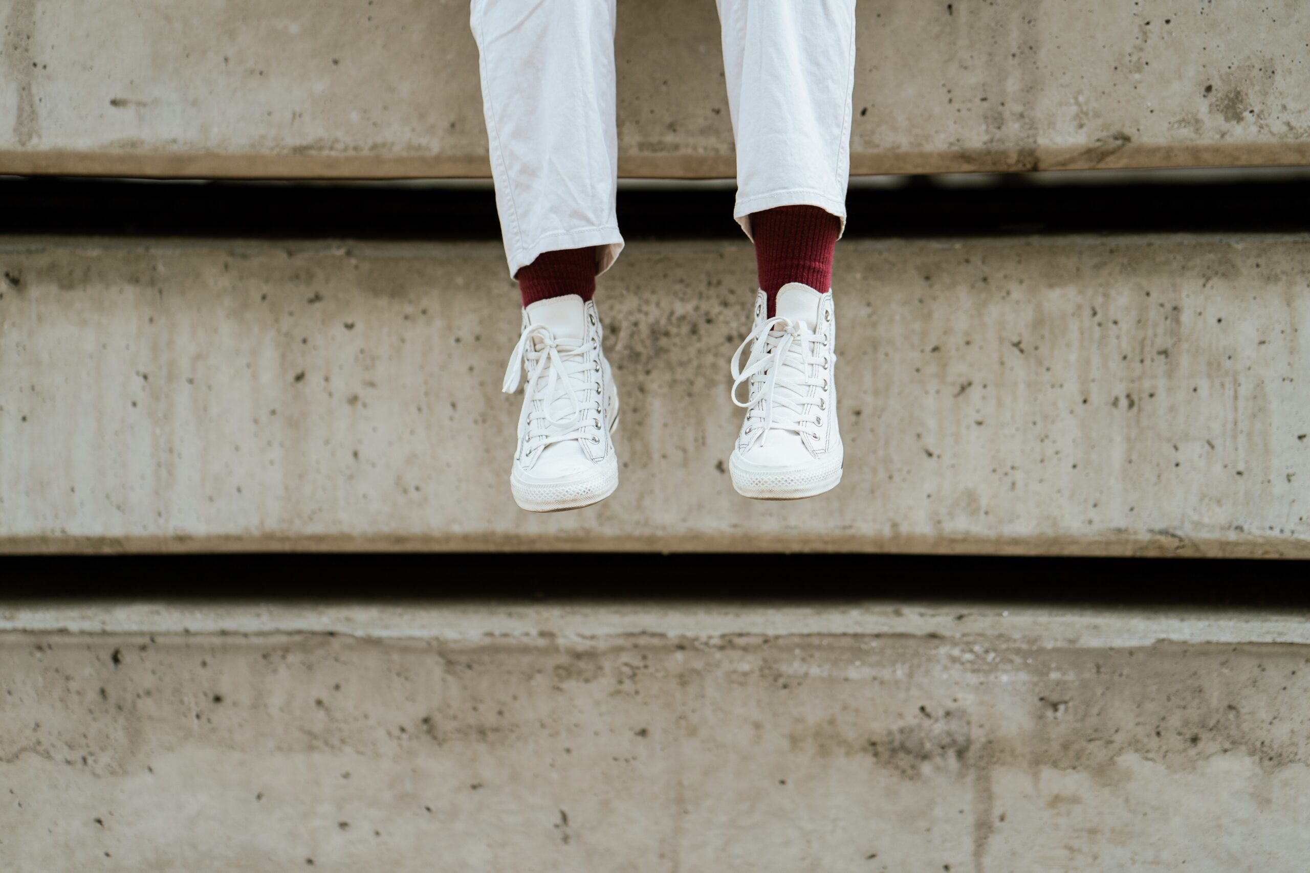 White shoes with chinos
