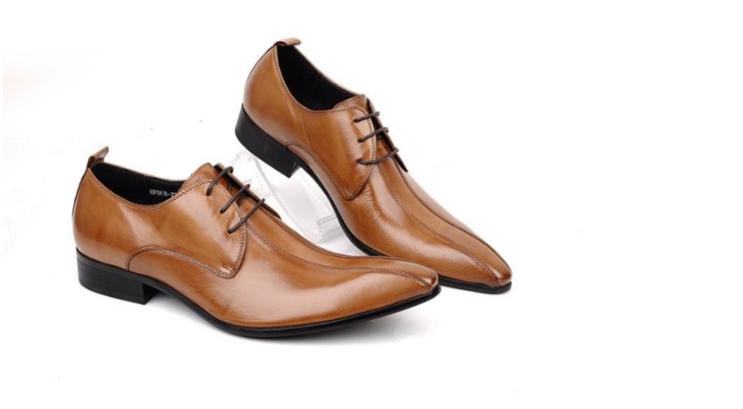 stylish low heel business brown shoes for men