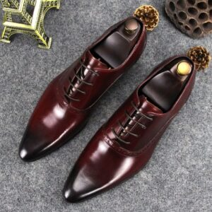 genuine leather wedding party shoes for men