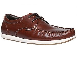 Men's Brad Lace up Brown Leather Formal Sneaker Shoes from Hush Puppies