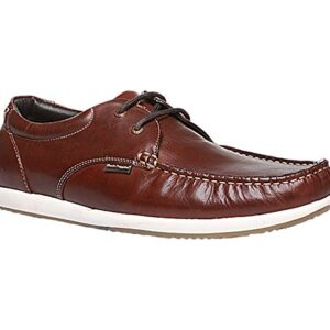 Men's Brad Lace up Brown Leather Formal Sneaker Shoes
