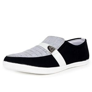 New Fashion Black / Grey Color Men's Canvas Loafer