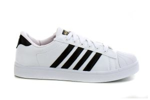 White & Black Lines Canvas Shoes
