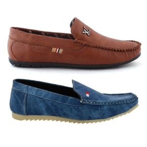 Brown and Blue Loafer