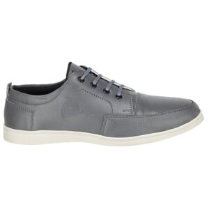 Men's Faux Leather Grey Sneaker