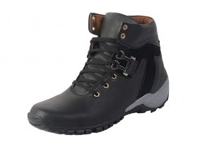 Black Color Synthetic Leather Boot Shoes for Mens