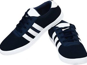Navy Blue Casual Party Wear Sneakers Shoes for Men