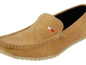Men's Casual Beige Color Denim Loafer Shoes