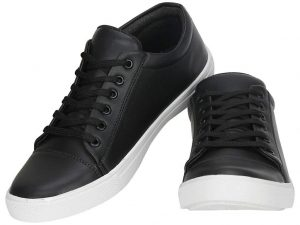 Latest Trendy Fashion Men's Synthetic Black Sneakers