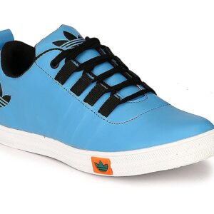 Casual Canvas Shoes Blue Sneaker For Mens