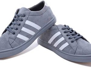 Grey White Party Wear Sneakers For Mens