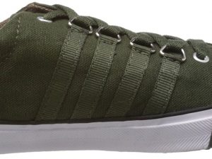 Olive Color Canvas Material Sneaker Shoes