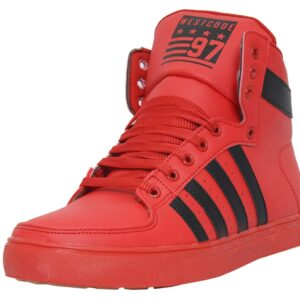 Red Mens Sneaker boots for Mens from west code @ amazon